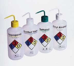 Nalgene Right-to-Know Narrow-Mouth LDPE Wash Bottles Capacity 16 oz Labeled Ethyl alcohol