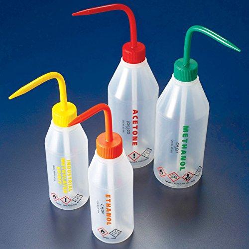 Globe Scientific Wash bottle IMS 250mL LDPEslope shoulderyellow cap - GLO
