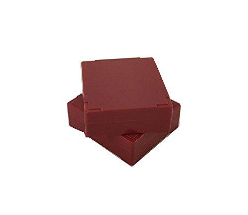 25 piece Microscope Slide Box Crimson- Microscope Slide Holder