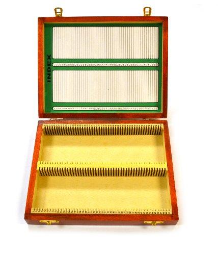 Eisco Labs BI0001C - Wooden Microscope Slide Box Holds 100 - 25x75mm Slides