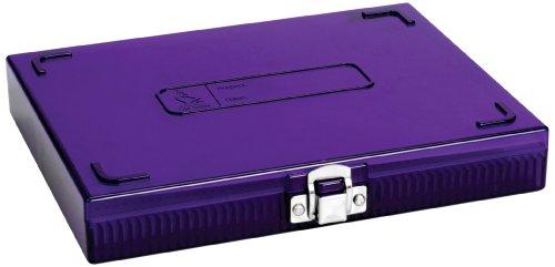 Heathrow Scientific HD15988H Polycarbonate Purple Durable True North Slide Box 208mm Width x 175mm Height x 34mm Depth